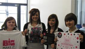 Chloe Meadows, Alice Furniss, Ellie Wise and Megan Morgan