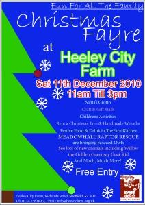 HCF christmas fayre poster