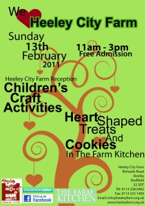 Valentine's Weekend event at Heeley City Farm Sunday 13 February