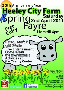 Heeley City Farm Spring Fayre poster