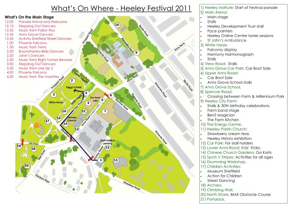 Heeley Festival Layout 2011