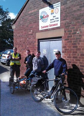The Millennium Park Maintenance Team with the electric bike