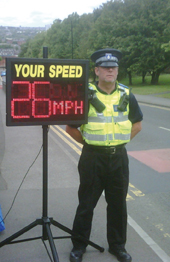 Speeding sign