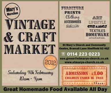 St Mary's vintage and craft market, Saturday 4 February, 10am-4pm