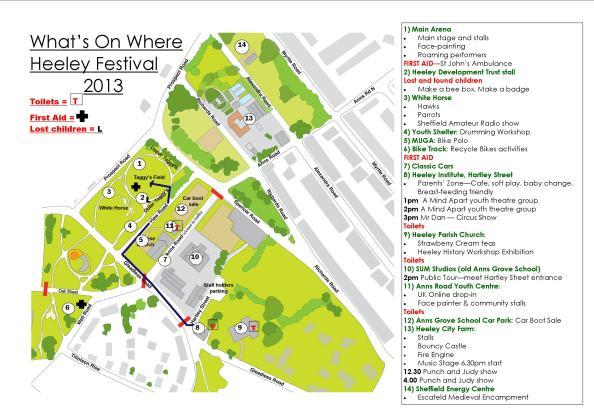 Heeley Festival Map 2013