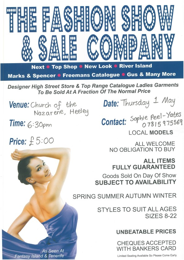 Fashion Show and Sale Poster