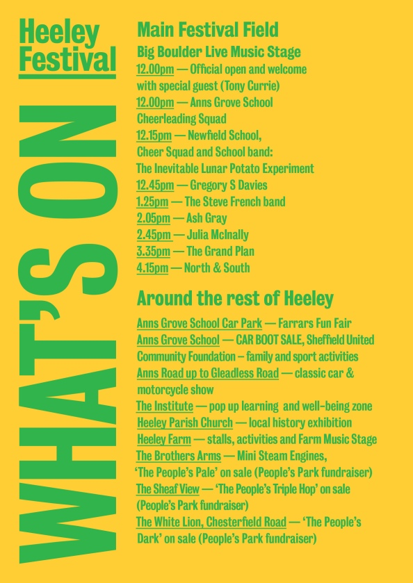 Heeley Festival whats on