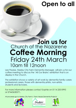 24 March 2017 coffee morning nazarene